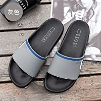 fankou The Cool Summer Sandals Men's Household Indoor Anti-Slip Bathroom Shower Thick, Soft Base for Couples Beach Slippers Female,43, Gray