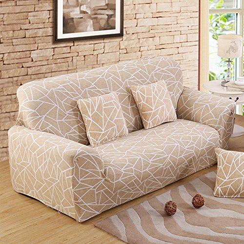 FORCHEER Sofabezug elastische Sofahusse Sesselbezug Stretchhusse Sofaüberwurf Couch Husse mit 4 verschienden Größe ( 2-Sitzer, 145-185cm, Farbe #19 )