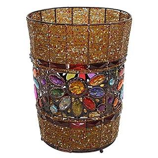 Zfggd Handmade Trash Can, Creative Cafe Round Decorative Trash Can