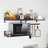 Support pour four à micro-ondes - Support mural pour étagère de cuisine - Pour four à micro-ondes, grill, four à four M-50x39