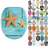 WC Sitz, viele schöne WC Sitze zur Auswahl, hochwertige und stabile Qualität aus Holz (Starfish)