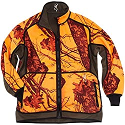 Chaqueta de caza powerfleece Reversible Browning Blaze Naranja/verde, color marrón, tamaño small