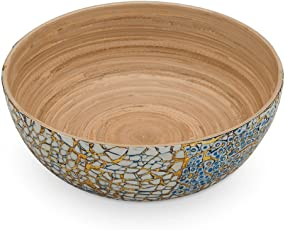 SOSPL Mixed Mosaic Bowl Coiled Bamboo Lacquer