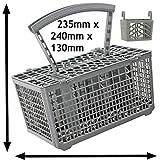 Spares2go posate basket gabbia con coperchio e supporto tablet per Baumatic lavastoviglie (manico rimovibile, 235x 240x 130)