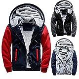 MEIbax Herren Warme Winterjacke Parka mit Kapuze Mantel Hoodie Fleece Zipper Jacke Outwear Herrenjacke M-5XL