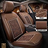 Couverture de siège de voiture universelle en cuir PU Ensemble complet 5 sièges...