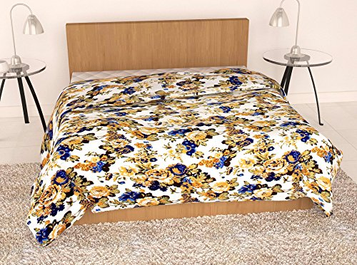 Story@Home Feather Touch Floral Microfibre Single Quilt - Beige