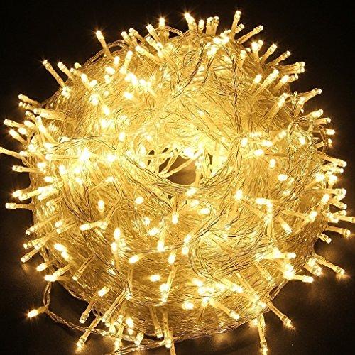 Han Lucky Star 30M 300 LED Wasserdicht Lichterkette mit 8 Modi Innen und Außen Deko für Party Garten Weihnachten Halloween Hochzeit Hotel Festival (Warmweiß)