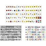 270 Lettres, nombres, symboles et emojis pour la boîte cinématique de format A4