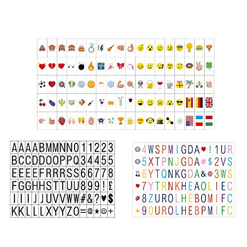 270 lettere, numeri, simboli e Emojis per A4 Size Cinematic Light Box