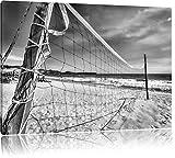 Pixxprint Rete di pallavolo sulla SpiaggiaStampa su Tela 60x40cm XXL Artistica murale