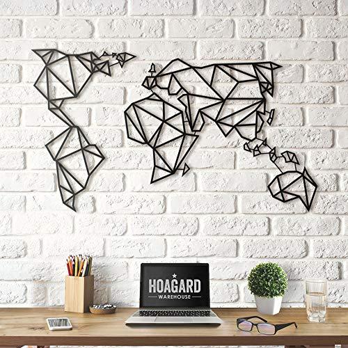 Hoagard Metal World Map Black - Mapamundi