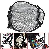 yosoo Universal schwarz Aufbewahrung unter der Net Tasche für Buggy Kinderwagen Kinderwagen Korb Einkaufstasche Kinderwagen Pocket