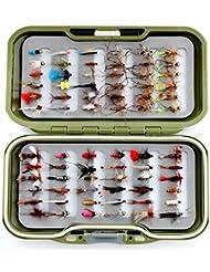 GS Fly Box Set mixtes truite Pêche à la mouche mouches Taille 12x MIXTES sèche pipi Nymphe et daddies X 72mouches Superbe Petit cadeau de pêche de Noël ou idée de cadeau...