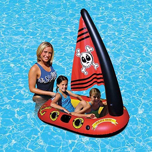Aufblasbare Schwimmspielzeug Piratenboot Schwimmbad Float Mit Fußpumpe Für Kinder Kind Kind Pool Float Bett Piratenschiff Wasserspielzeug - Aufblasen Boot