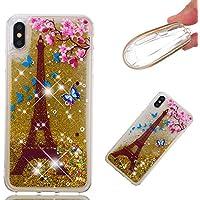 Everainy iPhone XS/iPhone X Hülle Silikon Transparent 3D Flüssig Glitzer Wasser Durchsichtig Stoßstange Gummi... preisvergleich bei billige-tabletten.eu