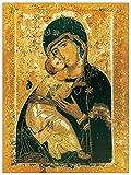 Artopweb Madonna Icona Pannello MDF, Legno, Bordo Nero