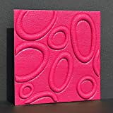Jhyhome Dreidimensionale Wandaufkleber Stereo 3D Wandaufkleber Hotel Wand Schaufenster Möbelhaus einfach selbstklebend rot