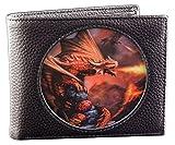 Fantasy Portemonnaie schwarz mit 3D Drache | Fire Dragon von Anne Stokes | Gothic Geldbörse Portmonee