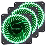 Novonest Gehäuselüfter 120-LED Quiet Edition 120mm High Airflow GRÜN LED Lüfter,33LED ,3 Stueck pro Packung