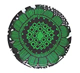Marimekko Siirtolapuutarha Tablett rund Ø 46 cm, weiß/grün/schwarz