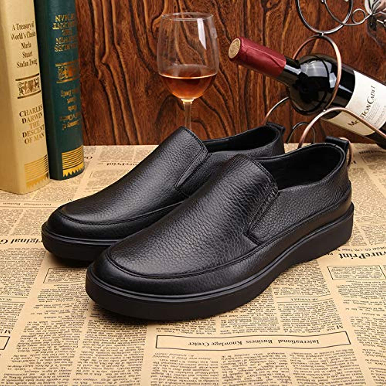 LOVDRAM Scarpe da Uomo Leather Loafers Autumn Autumn Autumn And Winter New Comfortable Driving scarpe Men's scarpe Middle-Aged... | Vendite Online  aaf71e