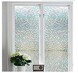 Do4U Verdunklungsfolie für Fenster, Sichtschutz zum Aufkleben, Blickdicht, 100% lichtundurchlässig, Vinylaufkleber ohne Gelkleber, leicht zu entfernen, Plastik Glas, Cube, 45 * 100cm