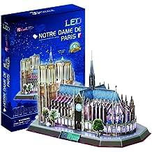 Puzzle 3D Notre Dame París Francia Iglesia Catedral con LED - Iluminación Paris France Light
