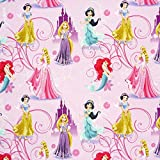 Disney Prinzessinnen rosa lila Gardinenstoff Stoff