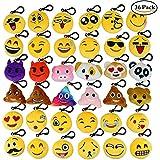 Aiduy Mini Emoji Llavero Emoji encantadora almohada almohadillas Emoticon Llavero Soft Party Bag regalo de relleno de juguete para los niños (36 pcs)