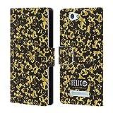 Head Case Designs Offizielle Felix The Cat Gold Muster Leder Brieftaschen Huelle kompatibel mit Wileyfox Spark/Plus