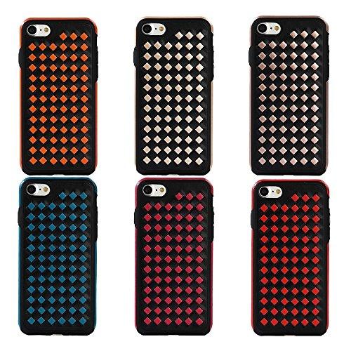 Wkae Diamond Knit Texture TPU Paste Skin Schutzhülle für iPhone 6 & 6s ( Color : Orange ) Red