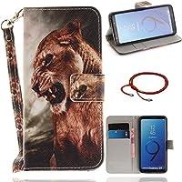 GOCDLJ PU Hülle per Samsung Galaxy S9 Leder Flip Cover Tasche Ledertasche Handytasche Handyhülle Case Etui Wallet... preisvergleich bei billige-tabletten.eu