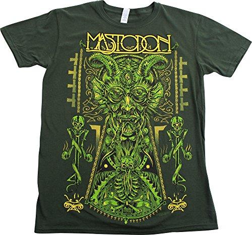 Mastodon-Devil-Maglietta Slim Fit, da uomo, colore: verde verde Small