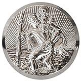 Heiliger Sankt Christophorus Medaille Emblem Plakette 42 mm selbstklebend