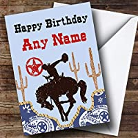 Rodeo Cowboy Western Personalised Birthday Card