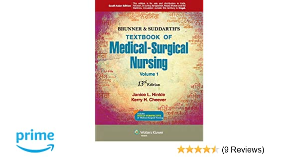 Buy brunner suddarths textbook of medical surgical nursing set buy brunner suddarths textbook of medical surgical nursing set of 2 volumes book online at low prices in india brunner suddarths textbook of fandeluxe Choice Image