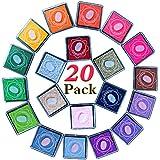 zesgood 20colores tampón de tinta para sellos de goma DIY Craft dedo no tóxico