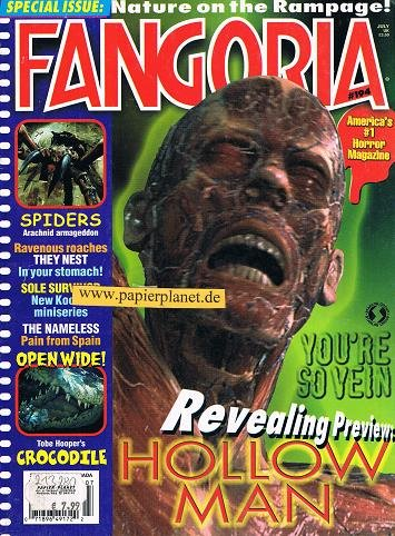 Fangoria Issue # 194 HOLLOW MAN Barbara Shelley SPIDERS (Horror Magazine)
