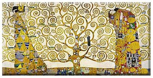 Lebensbaum , Leinwandbild, Gustav Klimt , Grösse 150 cm x 75 cm , Digitaldruck (Giclee) auf...