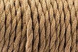 2Core Vintage marrón-Cuerdas trenzadas, seda tejida, flexible, color envejecido