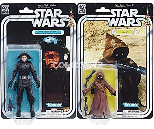 COMICTOYZ Exclusives Star Wars Kenner 40th Anniversary 2 Pack Jawa and Death Star Commander 6' Black Series Action Figures