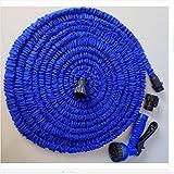 MLAURENT HOMEYKK Gartenschlauch, flexibler Schlauch Rohr-Rollen Garten Wasser Schlauch Auto Bewässerung Stecker (blau. 150ft)