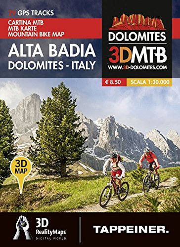 Moutainbike-Karte Alta Badia - Dolomiten Italien: Cartina Mountainbike Alta Badia - Dolomiti Italia (Mountainbike-Karten)