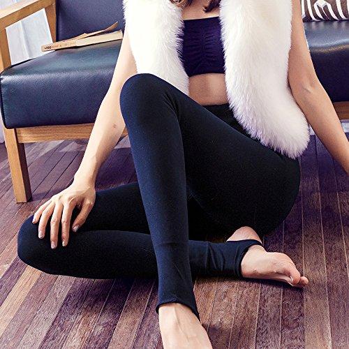 LVLIDAN Leggings Pants LVLIDAN Damen Stretch Hose Leggings Innenfutter Winter Primer Eindickung komfortabel Alle Codes Blau