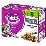 Whiskas Zum Fressen gern Katzenfutter Herzhaft Kauen Fisch - Fleisch, 48 Beutel (4 x 12 x 85 g)
