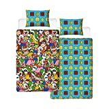 Super Mario Gang Single Duvet Cover | Reversible Two Sided Official Mario Bedding Duvet Cover With Matching Pillow Case
