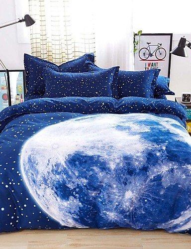 ZQ mingjie® Bettwäschesätze 4pcs Queen-Size-ADN-King-Size-Jungen und Mädchen koreanische blaue Erde Bettwäsche China Großhandel , king (Koreanisch Mädchen Bettwäsche)