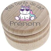 Boite à Dents de Lait en bois - Fabrication française - Personnalisée avec le prénom de l'enfant + Texte personnalisable…