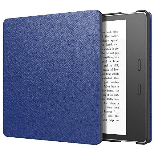 MoKo Hülle für Der Neue Kindle Oasis (10. & 9. Gen, 2019 & 2017 Modell NUR) eReader - Ultra Leightweight Schutzhülle Smart Cover mit Auto Sleep/Wake Funktion, Marineblau